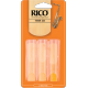 Rico Orange Tenor Saxophone Reed, Strength 1.5 (Unfiled Cut), Box of 3