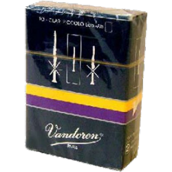 Vandoren Ab Piccolo Clarinet Reed, Strength 3, Box of 10