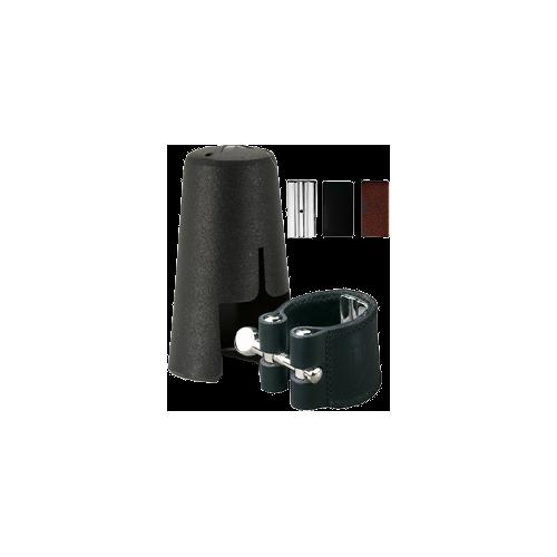 Vandoren Leather Ligature and Plastic Mouthpiece Cap for Eb Clarinet