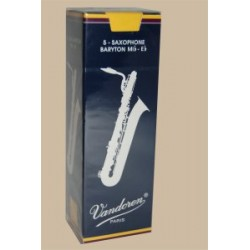 Vandoren Traditional Baritone Saxophone Reed, Strength 4, Box of 5