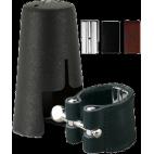 Vandoren Leather Ligature and Plastic Mouthpiece Cap for Baritone Saxophone