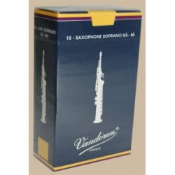 Vandoren Traditional Soprano Saxophone Reed, Strength 2.5, Box of 10