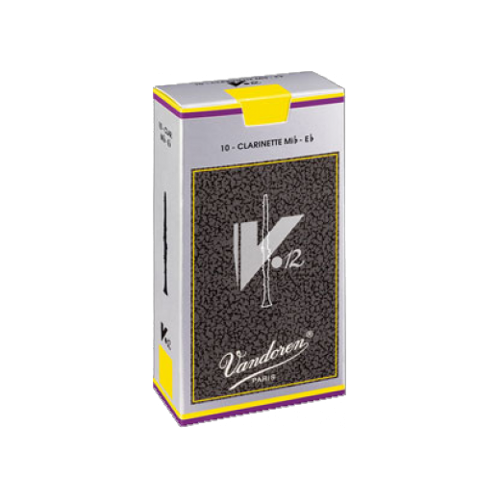 Vandoren V12 Eb Clarinet Reed, Strength 3, Box of 10