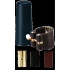 Vandoren V16 Leather Ligature and Plastic Mouthpiece Cap for Baritone Saxophone