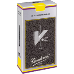 Vandoren V12 Eb Clarinet Reed, Strength 2.5, Box of 10