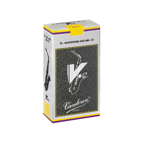 Vandoren V12 Alto Saxophone Reed, Strength 3.5, Box of 10