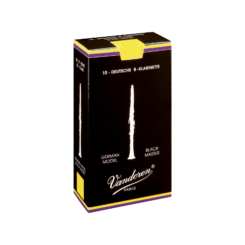 Vandoren Austrian Black Master Clarinet Reed, Strength 4, Box of 10