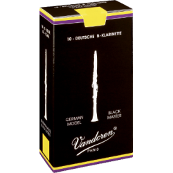 Vandoren Austrian Black Master Clarinet Reed, Strength 5++, Box of 10