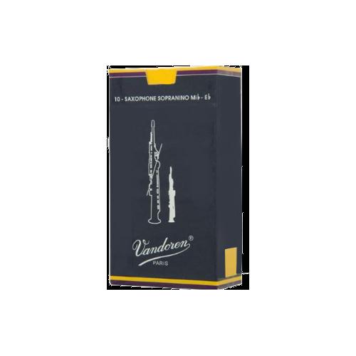 Vandoren Traditional Sopranino Saxophone Reed, Strength 4, Box of 10