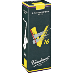 Vandoren V16 Tenor Saxophone Reed, Strength 3, Box of 5