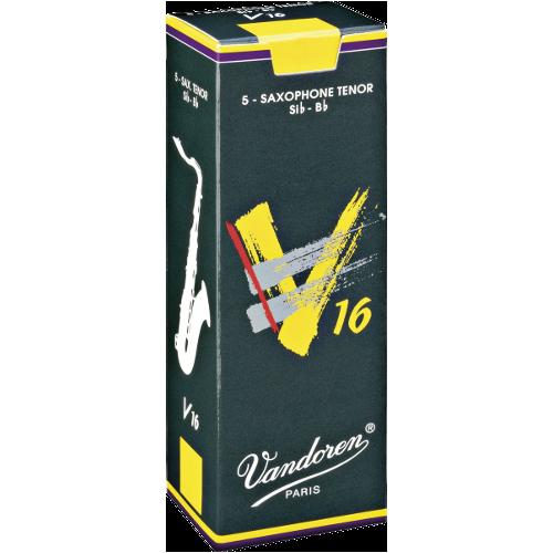 Vandoren V16 Tenor Saxophone Reed, Strength 5, Box of 5