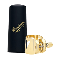 Vandoren Optimum Ligature and V16 Plastic Mouthpiece Cap for Baritone Saxophone