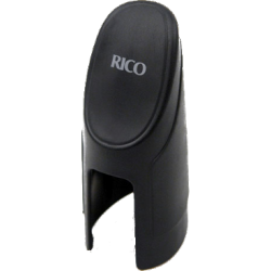 Rico Mouthpiece Cap for Alto Saxophone in Black with Inverted Ligature