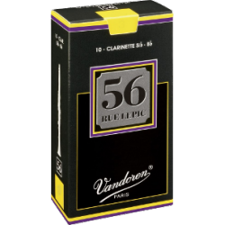 Vandoren 56 Rue Lepic Bb Clarinet Reed, Strength 3, Box of 10