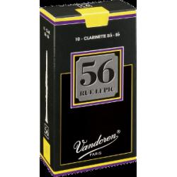 Vandoren 56 Rue Lepic Bb Clarinet Reed, Strength 3, Box of 10