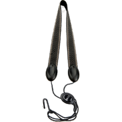 Rico Strap for Tenor or Baritone Saxophone in Spotted Grey, Metal Hook