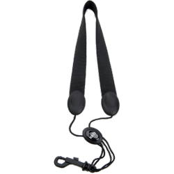 Rico Strap for Soprano or Alto Saxophone with Snap Hook, in Black