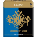 Rico Grand Concert Select Bb Clarinet Reed, Strength 4, Box of 10
