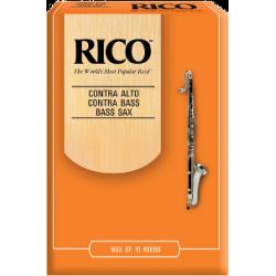 D'Addario Orange Bass Saxophone Reed Strength 3.5, Box of 10