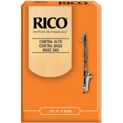 D'Addario Orange Bass Saxophone Reed Strength 2, Box of 10