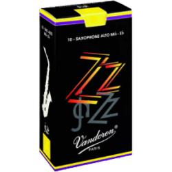 Vandoren ZZ Alto Saxophone Reed, Strength 2.5, Box of 10