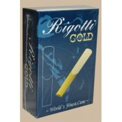 Rigotti Gold Jazz Alto Saxophone Reed, Strength 2.5, Box of 10