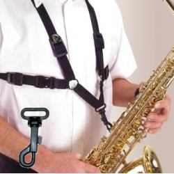 Men's XL Strap for Tenor and Alto Saxophone with Plastic Snap Hook
