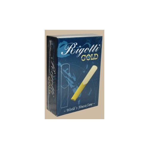 Rigotti Gold Jazz Baritone Saxophone Reed, Strength 2, Box of 10