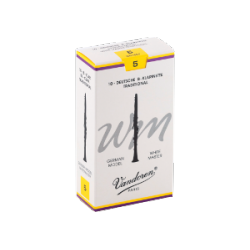 Vandoren Tradition White Master German Clarinet Reed Strength 5, Box of 10