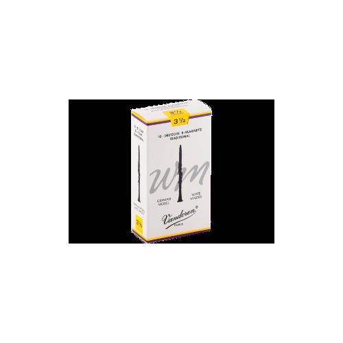 Vandoren Tradition White Master German Clarinet Reed Strength 3.5, Box of 10