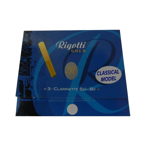 Rigotti Gold Classic Bb Clarinet Reed, Strength 2.5, Box of 3