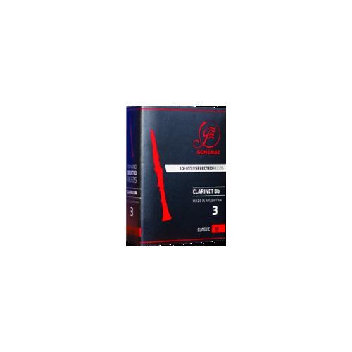 Gonzalez Classic Bb Clarinet Reed, Strength 2.5, Box of 10