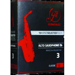 Gonzalez Classic Alto Saxophone Reed, Strength 2, Box of 10