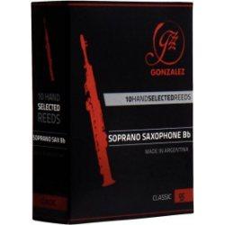 Gonzalez Classic Soprano Saxophone Reed, Strength 3, Box of 10