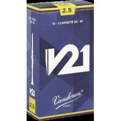 Vandoren V21 Bb Clarinet Reed, Strength 4, Box of 10