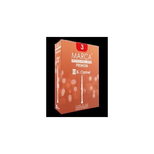 Marca Premium Cut Bb Clarinet Reed, Strength 3, Box of 10