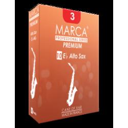 Marca Premium Cut Alto Saxophone Reed, Strength 4, Box of 10