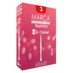 Marca Tradition Bb Clarinet Reed, Strength 3, Box of 10