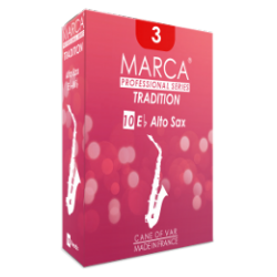 Marca Tradition Alto Saxophone Reed, Strength 2.5, Box of 10