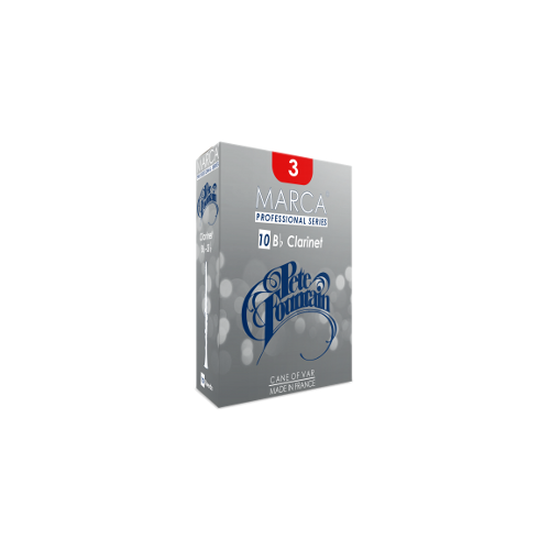 Marca Pete Fountain Cut Bb Clarinet Reed, Strength 3, Box of 10