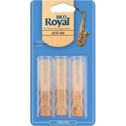 Rico Royal Alto Saxophone Reed, Strength 2.5, Box of 3