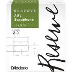 D'Addario Reserve Alto Saxophone Reed, Strength 2, Box of 10