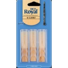 Rico Royal Bb Clarinet Reed, Strength 2.5, Box of 3