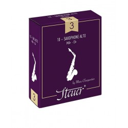 Steuer Traditional Alto Saxophone Reed, Strength 2, Box of 10