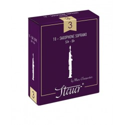 Steuer Traditional Soprano Saxophone Reed, Strength 3.5, Box of 10