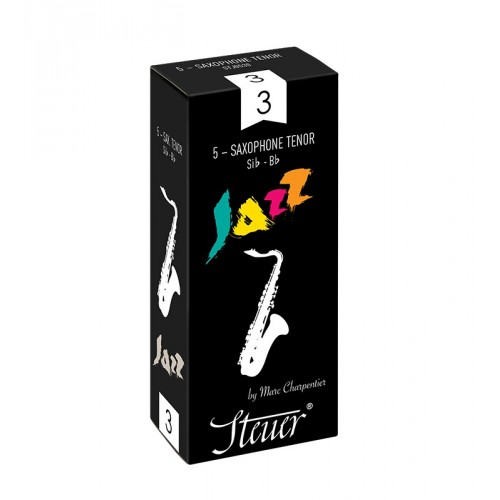 Steuer Jazz Tenor Saxophone Reed Strength 2.5, Box of 5