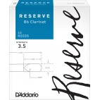 D'Addario Reserve Bb Clarinet Reed, Strength 3.5, Box of 10