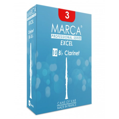 Marca Excel Bb Clarinet Reed, Strength 2.5, Box of 10