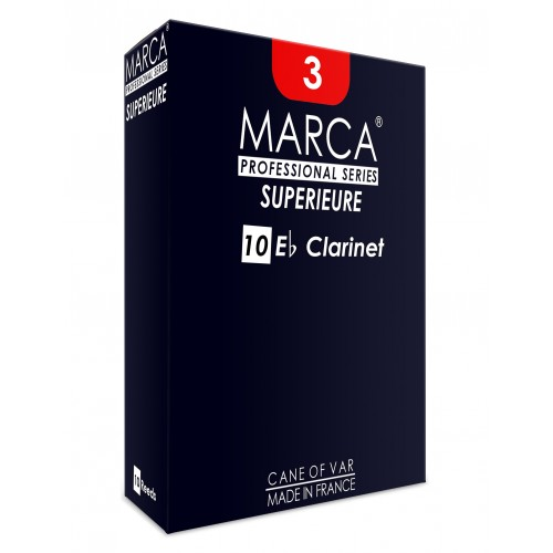 Marca Superieure Eb Clarinet Reed, Strength 4, Box of 10