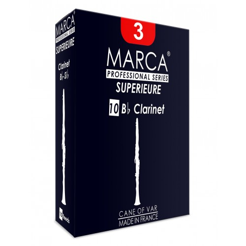 Marca Superieure Bb Clarinet Reed, Strength 3, Box of 10